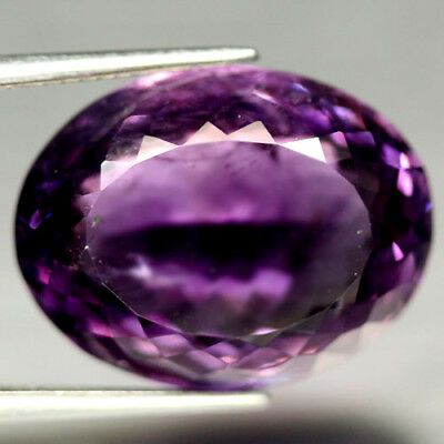 20.64 CT NATURAL! 15 X 20 mm. PURPLE CLR CHANGE TO PINK BRAZILIAN AMETHYST OVAL