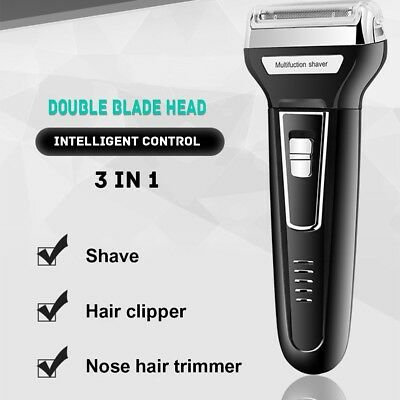 3 in 1 Washable Eletric Shaver Rechargeable Waterproof Razor Hair Clipper