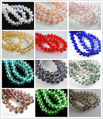 10Pcs Faceted Crystal Rondelle Glass Loose Beads Spacer Jewelry Makings 18x14mm