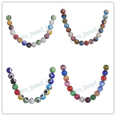 Charm Jewelry Multi-Color Flower Millefiori Glass Loose Beads 50pcs Findings