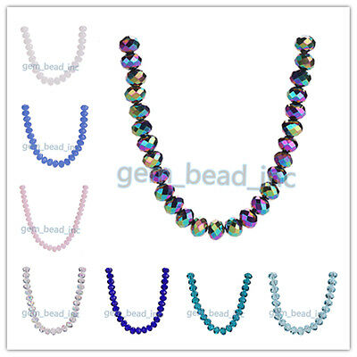 Charms 5040# Rondelle Faceted Crystal Glass Loose Jewelry 53Colors Beads 2x3mm