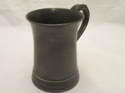 A Good 19thC Pewter Pint Tankard - X mark
