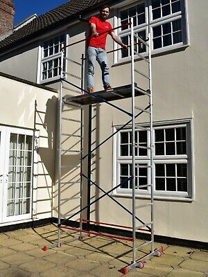 SUPERB DIY Aluminium Scaffold/scaffolding tower/towers/platform 5m reach height