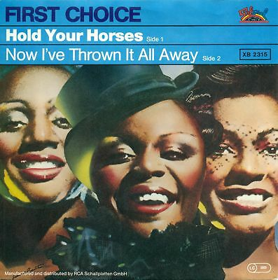 """First Choice - Hold Your Horses 7 """" Salsoul Single S7835"""