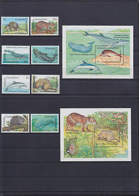 056101 Fische Fish ... Grenada G 1267-74 + Block 189/90 ** MNH Year 1990