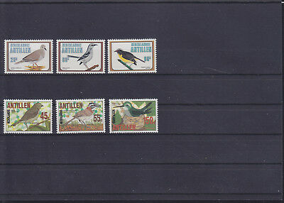 056160 Vögel Birds Nederlandse Antillen 429-31 + 536-38 ** MNH Year 1980 + 1984
