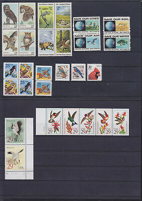 056179 Vögel Birds USA Briefmarken Stamps ** MNH - Lot