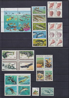056184 Fische Fish USA Stamps Briefmarken ** MNH - Lot