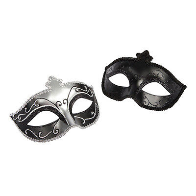 Masken Set  in schwarz Glitzer 2 Stück Fifty shades of grey  Kostüm Fasching
