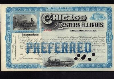 Chicago and Eastern Illinois Railroad Company dd 18xx  - unissued