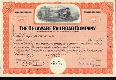 The Delaware Railroad Company 1971 issued to Baxter Wellmon