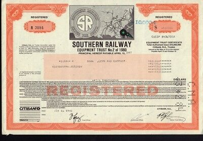 Southern Railway Equipment Trust No. 2 of 1980