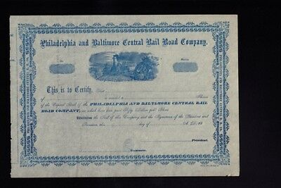 Philadelphia and Baltimore Central Rail Road Company dd 18xx - unissued