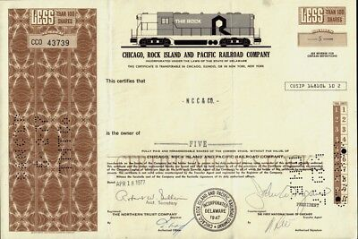 Chicago Rock Island and Pacific Railway Company dd 1977  - rare style