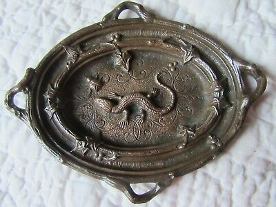 Lovely French Antique Bronze Jugendstil Art Nouveau Card Holder Tray