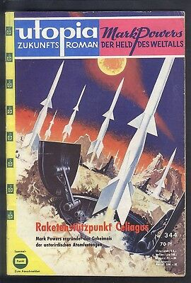 Utopia Zukunftsroman Nr.344 von 1962 - Z1-2 Science Fiction Pabel Mark Powers