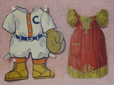 Die Cuts (5) unmarked, Bears, Catchers Uniform Gown & Boy with Horn