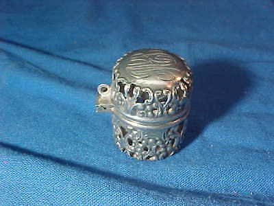 19thc VICTORIAN Era STERLING Silver Sewing THIMBLE CASE by WEBSTER Silver Co # 3