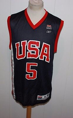 Vintage Reebok Jason Kidd No 5 Dreamteam Team Usa Trikot Nba Gr M