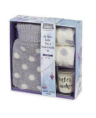 Totes Socks Hot water bottle & scented candle gift set 9145L Brand New