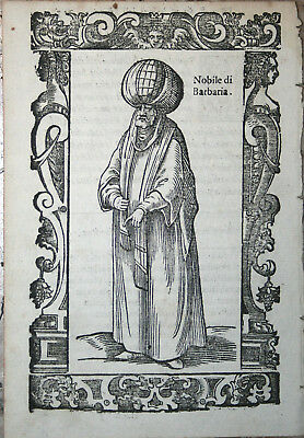 Noble man of North Africa - Vecellio 1598