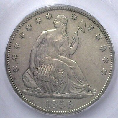 1856-S Seated Liberty Silver 50 Cents  Icg Ef45  Rare This Nice!