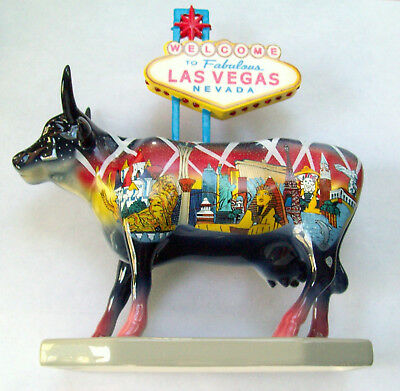 "Retired Cow Parade Figurine ""Welcome to Fabulous Las Vegas"" #7326"