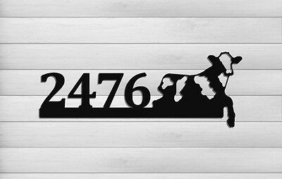 Dairy Cow Address Sign - Farm And Ranch Decor - Clingermans