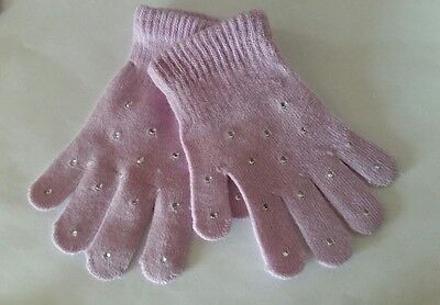 Sparkly Lilac Ice Skating Dress  Gloves