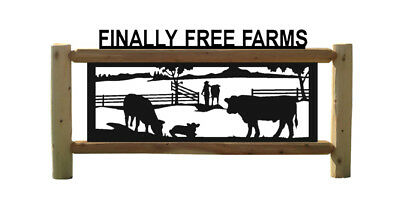 Angus Cattle-Cows-Farm & Country Outdoor Signs-Farm And Ranch Decor