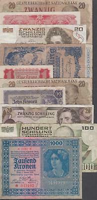 10 Banknotes from Austria