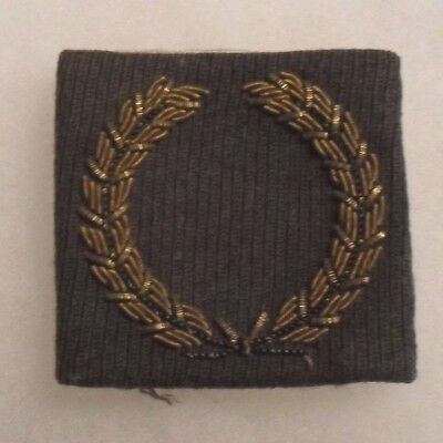Fantastic Wwii Bullion On Officer Muc Thick Padded With Fold Over Back