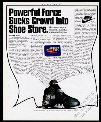 1993 Nike Air Force Max basketball shoes shoe photo vintage print ad