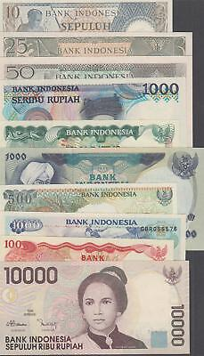 10 Banknotes from Indonesia all AU or Better