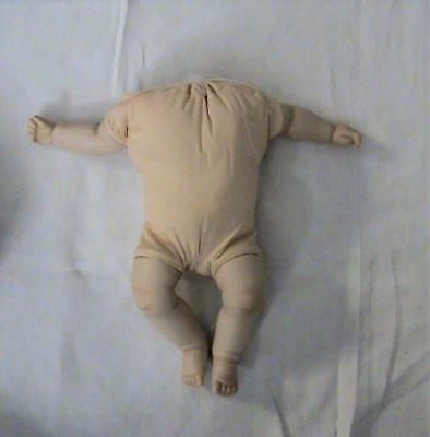 Soft Body Doll No Head with Porcelain legs & Arms Unknown Maker and Date