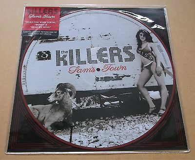 THE KILLERS Sam's Town 2006 US limited vinyl picture disc LP w/ red rim + poster