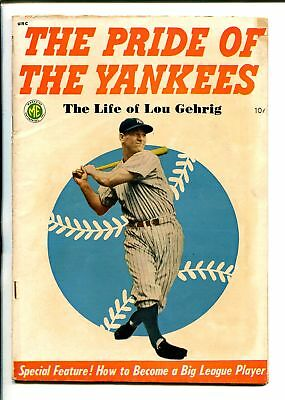 PRIDE OF THE YANKEES 1949-ME-LOU GEHRIG-PHOTO COVER-good/vg