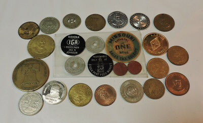 Lot of Tokens Medals Transportation, Political, Gaming, Commemorative, Goods Tax