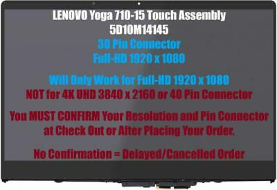 "Lenovo Yoga 710-15ikb 80V5 15.6"" FHD LED LCD Touch Screen Digitizer Assembly"