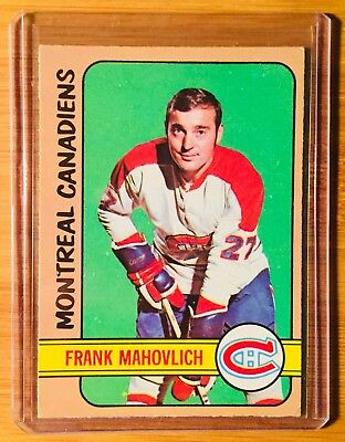1972-73 Opc O-Pee-Chee Montreal Canadiens Frank Mahovlich # 102 Nr-Mt L@@k