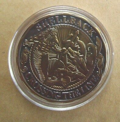 US Navy Shellback Crossing The Line Challenge Coin Token Mint