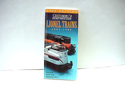 Greenberg's 1994 Edition Pocket Price Guide Lionel Trains By Bruce C. Greenberg