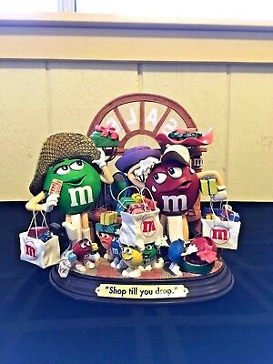 "Rare! The Danbury Mint ""Shop till you drop"" A Delightful M&M's Candy Collectible"