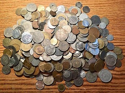 Bulk/Lot: 4 Pounds World/Foreign Coin Collection - No Reserve - 1900+ Grams