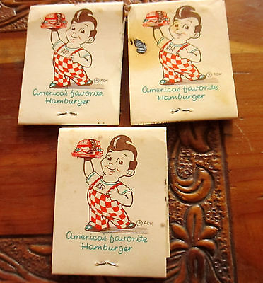 Lot 3 Matchbooks- Marc's Big Boy Restaurants WISCONSIN IOWA 2 unstruck