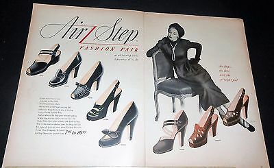 1948 AIR STEP high-heel SHOES Brown Shoe Co vintage Ad /or LEE overalls Ad