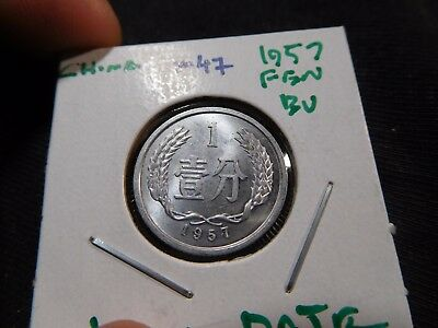 INV #M47 China PRC 1957 Fen BU Key Date