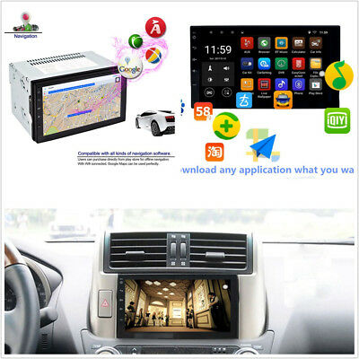 7'' 2Din Touch Screen Car Radio Player GPS Navigation Bluetooth Android 6.0 Wifi