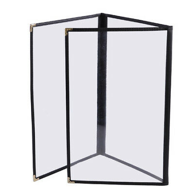 "30pcs 8-1/2""x11"" Clear Restaurant Menu Cover Folder Triple 27448"