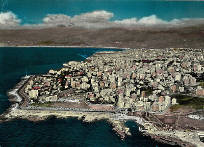 Beirut,Lebanon,Middle East,General View,Used,2 Lebanon Stamps,1962